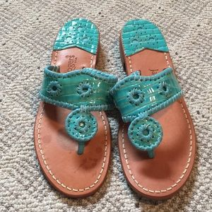 Jack Rogers green sandals